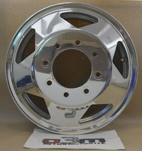 1999 2009 Ford Super Duty Dually Front Wheel Polished Aluminum Oem 4c3z 1007 Ka