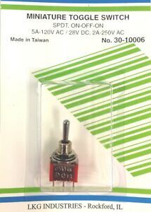 Mini Toggle Switch Spdt On off on 5a 120vac