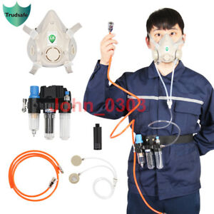 Trudsafe 3 In 1 Function Supplied Air Fed Respirator System Half Face Gas Mask