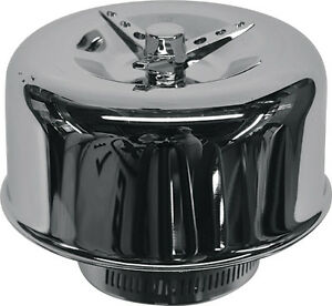 2 Barrel Air Cleaner Chrome Smooth Sides 2 5 8 Neck Stromberg 97 Holley 94 Ford