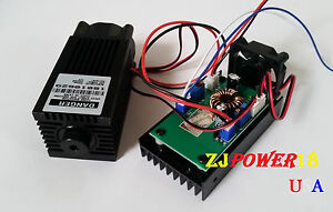 Focusable High Power 2w 450nm Blue Laser Module With Ttl 12v Input Wood Carving
