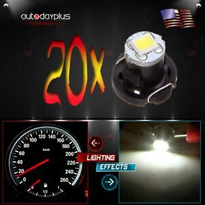 20x White T4 T4 2 Neo Wedge 2835 Led Dash A C Heater Climate Control Light Bulbs