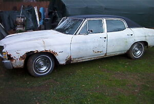 68 69 70 71 72 Chevelle Complete Car For Parts Or Restore