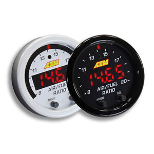 Aem 52mm Wideband Uego Air Fuel Ratio Sensor Controller Gauge W White Face Kit