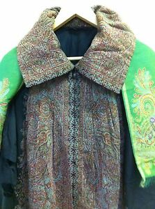 Antique Kashmir Paisley Shawl Victorian Cape With Paisley Scarf 19thc