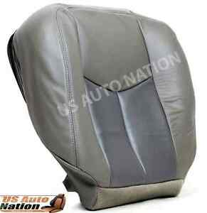2003 04 05 06 Gmc Sierra Yukon Denali Driver Side Bottom Seat Cover 2 Tone Gray