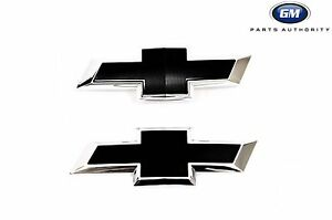 2016 2019 Chevrolet Camaro Front Rear Black Bowtie Emblems 84219485 Genuine Gm