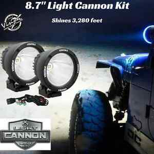 Vision X 90 Watt 8 7 Led Light Cannon Black 10 Degree Spot Beam W Harness