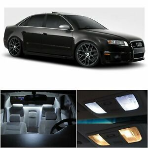 21x White Car Led Interior Lights Package For Audi A4 S4 B6 B7 Sedan 2002 2008