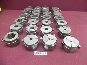 Lot Of 28 Balas 3 Machine Collet Pads Free Shipping Loc2141
