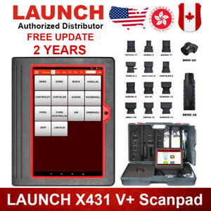 Launch X431 V Scanpad Diagnostic Scanner Epb Dpf Tool Tablet For Ford Chrysler