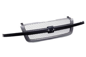Front Ss Grille Assembly Fits 2003 2007 Chevy Silverado 1500 2500 3500 V6 V8