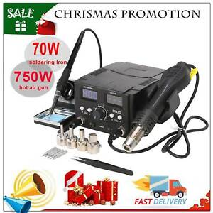 2in1 8582 Smd Soldering Iron Rework Station Hot Air Gun Led Digital Display 750w