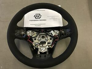 2015 2017 Cadillac Cts v Jet Black Suede Steering Wheel 23316245 Hand stitched