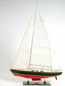 Omega 46 Sailboat 30 Painted Yacht Wood Model Assembled