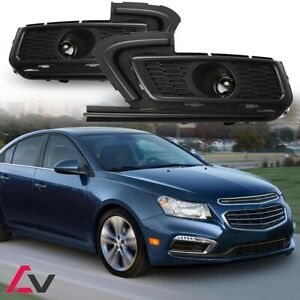 15 16 For Chevy Cruze Clear Lens Pair Oe Fog Light Lamp wiring switch Kit Dot