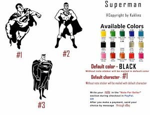 Vinyl Decal Sticker Superman Window Vehicle Superhero Dc Comics Man Of Steel