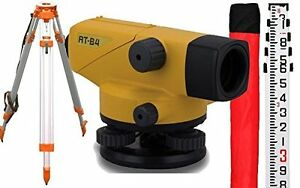 Topcon At B4 24x Automatic Level 60909 With Adirpro Tripod And Rod Package Ne