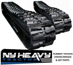 Two Ny Heavy Rubber Tracks Fits Cat 307 450x71x82 Caterpillar Excavator 18