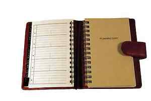 Red Leather Covered Day Planner