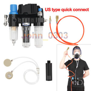 3 In 1 Function Supplied Air Fed System For Spraying Respirator Gas Air Mask