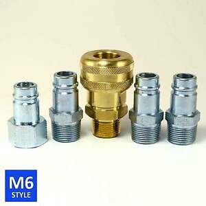 Foster 6 Series Brass Quick Coupler 3 4 Body 3 4 Npt Air Hose And Water Fittings