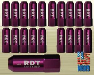 Purple M12x1 5 60mm Aluminum Tuner Racing Wheel Lug Nut 20pcs For Honda Acura