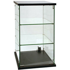 New Retails Frameless Glass Countertop Showcase 13 X 13 X 24h