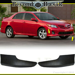 For 2011 2012 2013 Toyota Corolla S Style 2 Pc Front Chin Bumpers Body Kit