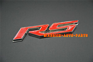 Car Rs Emblem Badge Sticker For Chevrolet Camaro 2010 2015 Rs Boot Rear Badge X1