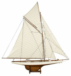America S Cup Columbia J Class Yacht 45 Built Wood Model Sailboat Assembled