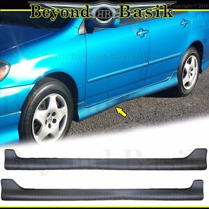 For 03 04 05 06 07 2008 Toyota Corolla Side Skirts Body Kit Factory S style Lip