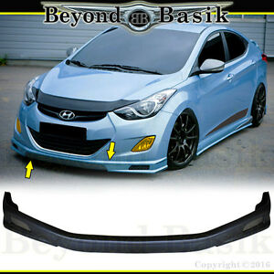 Fits 2011 2013 Hyundai Elantra Body Kit Sequence Style Front Bumper Splitter