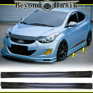 For 2011 12 2013 2014 2015 Hyundai Elantra Sequence Style Side Skirts Body Kit