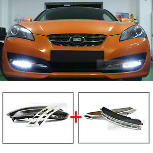 Led Daytime Light Daylight Drl Lamp Cover For Hyundai 2009 2012 Genesis Coupe