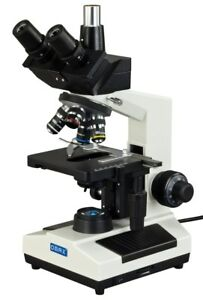 Omax Laboratory Trinocular Compound Microscope 40x 1000x W Replaceable Led Light