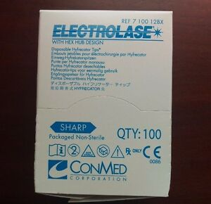 Conmed Electrolase Disposable Hyfrecator Tips 7 100 12bx New sealed 100 bx