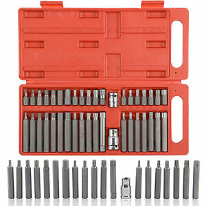 New 40 Piece Torx Star Spline Hex Socket Bit Set Tool Kit Garage Tools Equipment
