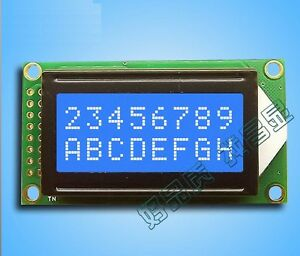 1pcs Blue 0802 Lcd 8x2 Character Lcd Display Module 5v Lcm For Arduino