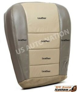 03 04 Ford Excursion Eddie Bauer 4x4 Diesel Leather Driver Bottom Seat Cover