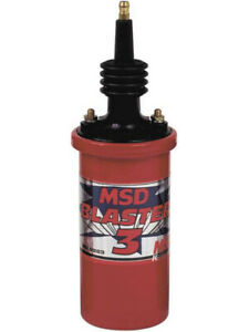 Msd Ignition Coil Blaster 3 Canister Round Oil Filled Red 45 000v Each 8223
