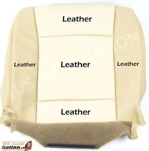 2006 2007 2008 Ford Explorer Limited Driver Side Bottom Leather Seat Cover Tan