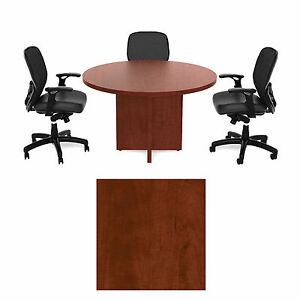 Cherryman 36 Inch Round Conference Table Mocha Cherry Amber 3 Ft Laminate