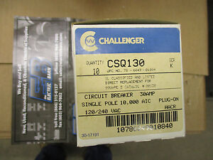 Challenger Csq130 30 Amp 120v Classified Replacement Breakers Box Of 10 New