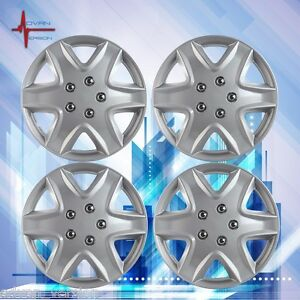 15 Hub Caps Wheel Cover Skin Abs 4 Piece Set Wj 5049 B 15 Lacquer