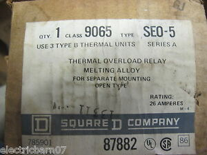 Square D 9065 Seo 5 Thermal Overload Relay new