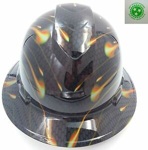 New Custom Pyramex full Brim Hard Hat Honeycomb Carbon See Store Best Selection