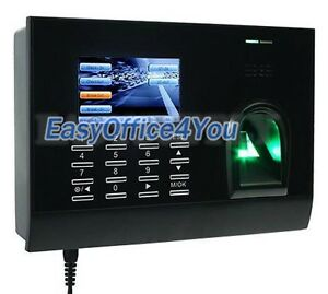 Color Display Tcp ip Fingerprint Time Clock Employee Payroll Recorder Punch