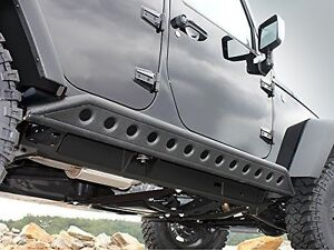 4 Door Rock Crawler Side Slider Armor Rocker Guards For 07 18 Jeep Jk Wrangler