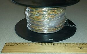 138 Ft Spool Mil spec M27500 20mw3u00 20awg Twisted Cable Wire 3 c 19 c 600v